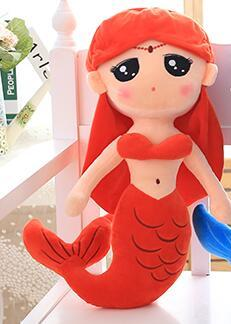 brand plush mermaid dolls with Curved tail toys for girl super beautiful little mermaid 30cm baby doll wedding dolls