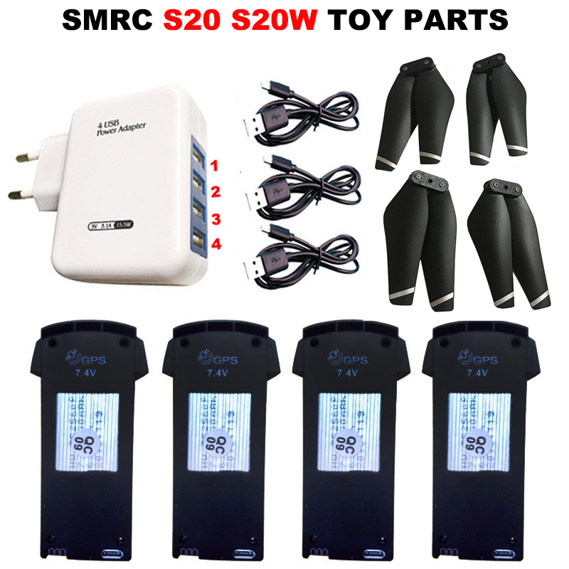 SMRC S20 S20W RC Drone 3.7V 1800mAh/7.4V 900mAh Lipo Battery For RC Quadcopter Spare Parts Accessories Rechargeable Battery