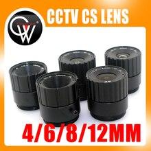 1000pcs/lot 4mm / 6mm / 8mm/ 12mm lens Fixed Lens IR Megapixels CCTV LENS 1/3″ CS F1.6 Security Camera DHL Free Shipping