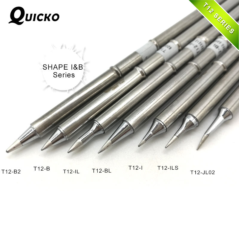 SHAPE I&B series T12-B2 T12-B IL T12-BL T12-I ILS JL02 T12 Iron Tip For FX951 STC AND STM32 OLED Soldering Tip/stinger/sting freeshipping for fx951 soldering iron replacement handle fm2028 with free t12 i iron tip