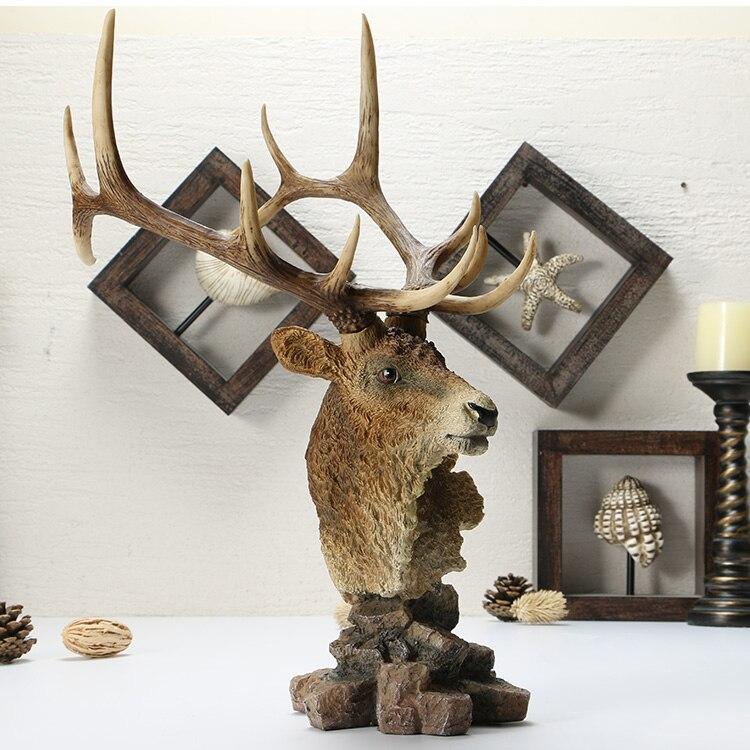 Européen rétro maison accessoires décorations cerf américain étude bureau créatif artisanat ornements
