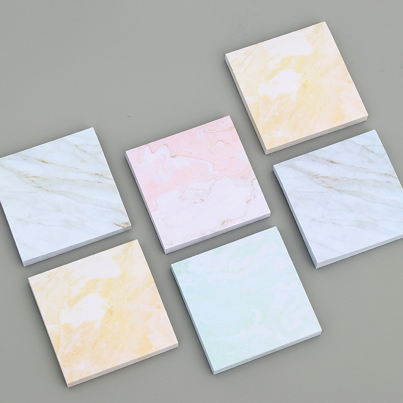 DL Personal creative marble texture convenience sticker can be tore small notebook Stationery small book note N post