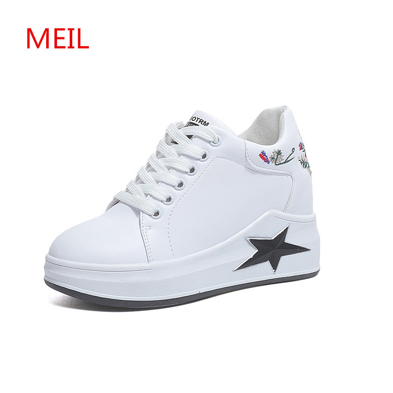 shoes woman 2018 fashion white wedge sneakers women soft leather female sneaker casual shoes ladies flat footwear Platform Shoes vesonal brand faux fur women shoes flats 2017 winter warm velvet female fashion ladies woman sneakers casual footwear tsj 189
