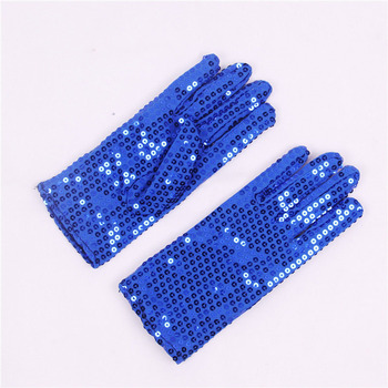 Women/Child Monochrome Sequins Dance Performance Gloves Children's Day Professional Cosplay Princess Accessories Gloves A72