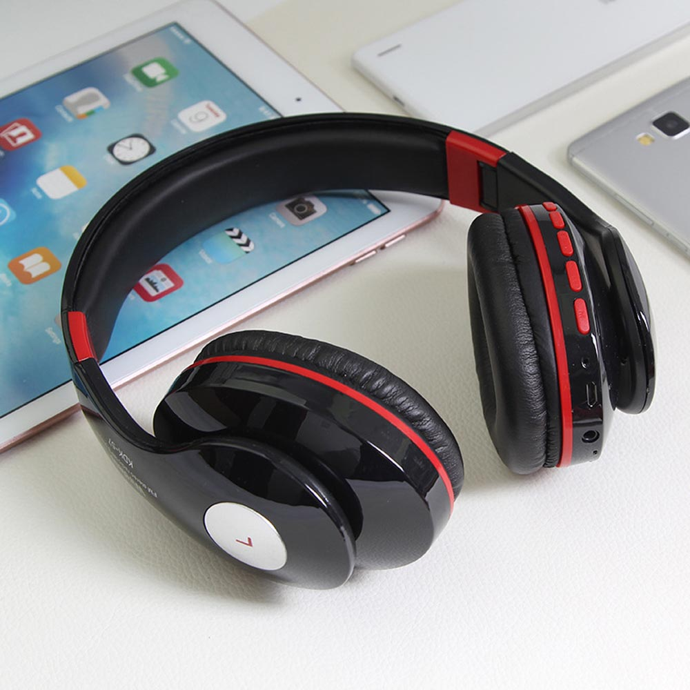 KDK57 Foldable Headphone Wireless Headset Bluetooth Headfone Casque Bluetooth sans fil Sport Earpiece For Phone TF card FM Radio