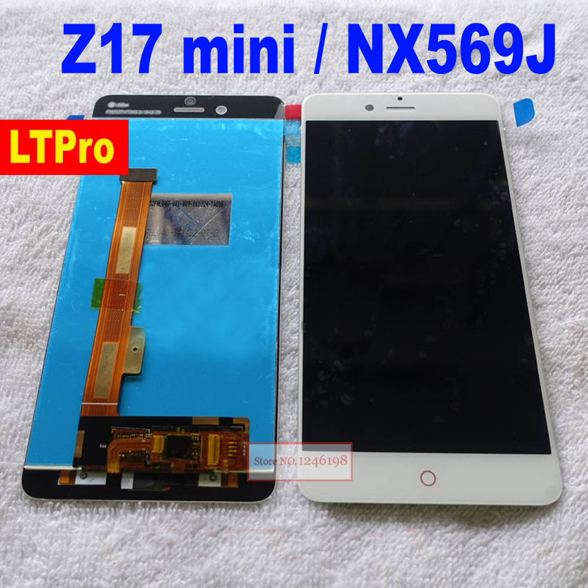 TOP Quality Front Panel LCD Display Touch Screen Digitizer Assembly For ZTE Nubia Z17 mini z17mini NX569J phone sensor parts