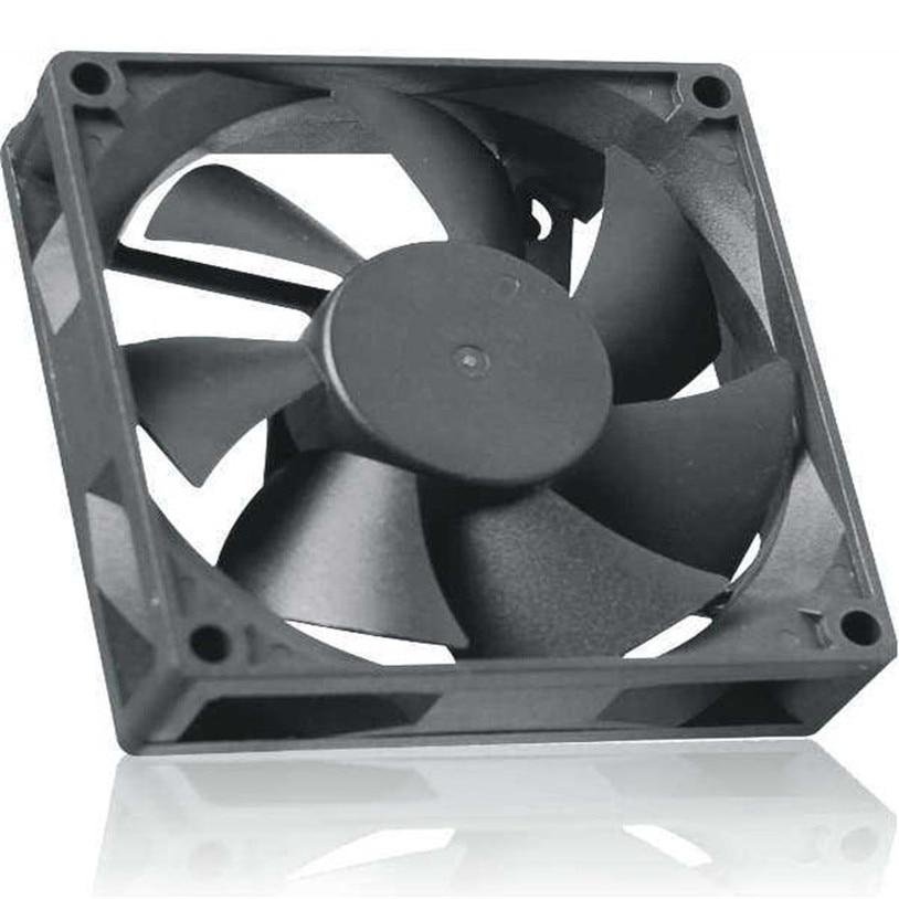 Heat Sink Cooling fan High Quality Hot Sale 8cmx8cmx2.5cm New 3Pin 12V Computer PC CPU Silent 8025 Cooling Case Fan 4* medium computer cpu plastic cooling fan leaves card blower heat sink
