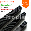 1.25 modulus helical Gear Rack steel 1400mm x 3 set high precision for cnc router