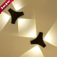 LED wall lamp wall light up down Triangle shaped AC110v-260v wall lights for bedroom/corridor/living room/Aisle/balcony european style tiffany colored glass wall light creative retro aisle corridor balcony bedroom wall lamp beauty wall light