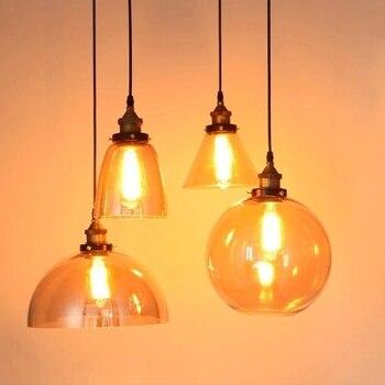 Retro Glass Pendant Lights LED Kitchen Lights LED Lamp Hanging Lamp Ceiling Lamps Living Room Lighting Fixtures