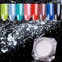1.5g Diamond Pearl Powder Pearly White Nail Glitters Shine Nail Pigment Chrome Powder DIY Manicure Nail Art  Decoration