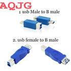 10pcs Hot Sale Usb 3.0 Printer adpater conversion head start plug printer usb 3.0 B female usb connector mother B female head us