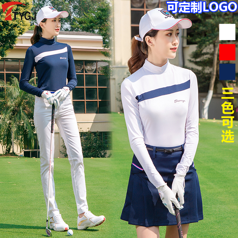 Golf Clothes Woman Shirt Spring/summer Sun Protection Clothing Female Models Wicking Lady Long-sleeved TShirt Dress Sports Tops polo golf clothes costume lady golf zipper collar shirt cotton autumn jacket long sleeved tshirt fashion korean female clothing