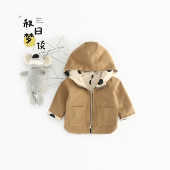 Autumn New Arrival cotton pure color dot pattern casual Two faces weared Hoodies for cute