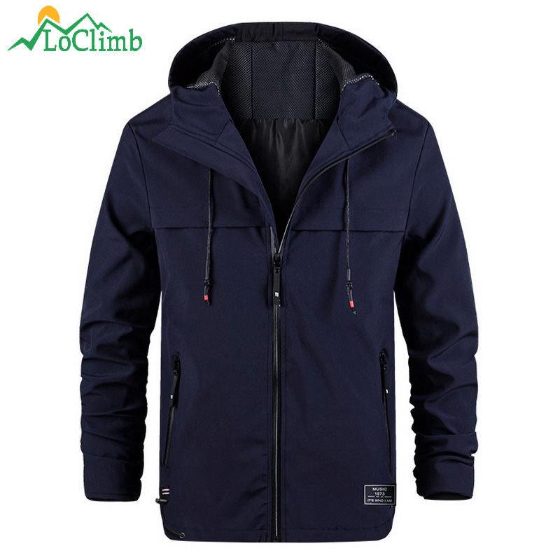 LoClimb Outdoor Hiking Jacket Men Spring/Autumn Coat Fishing/Trekking Windbreaker Softshell Jacket Light Waterpoof Jackets AM371