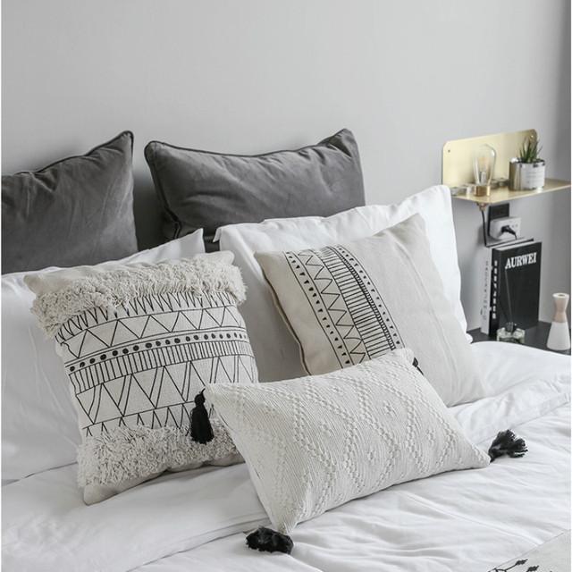 Nordic Geometric Patterns Decorative Pillow Cover