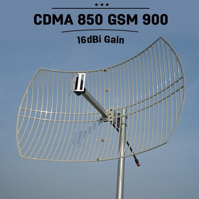 20dBi haut Gain 2G 3G CDMA UMTS 850 mhz antenne cellulaire extérieure Mobile GSM 900 mhz antenne de Signal de téléphone portable externe N connecteur 4