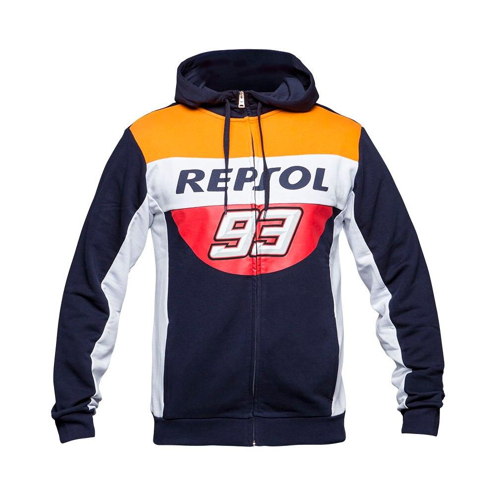 Free shipping 2018 Brand New Marc Marquez 93 Moto GP Repsol Zip Hoodie MM93 Motorcycle Sports Sweatshirt Crew Fleece