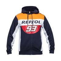 Free Shipping 2018 Brand New Marc Marquez 93 Moto GP Repsol Zip Hoodie MM93 Motorcycle Sports