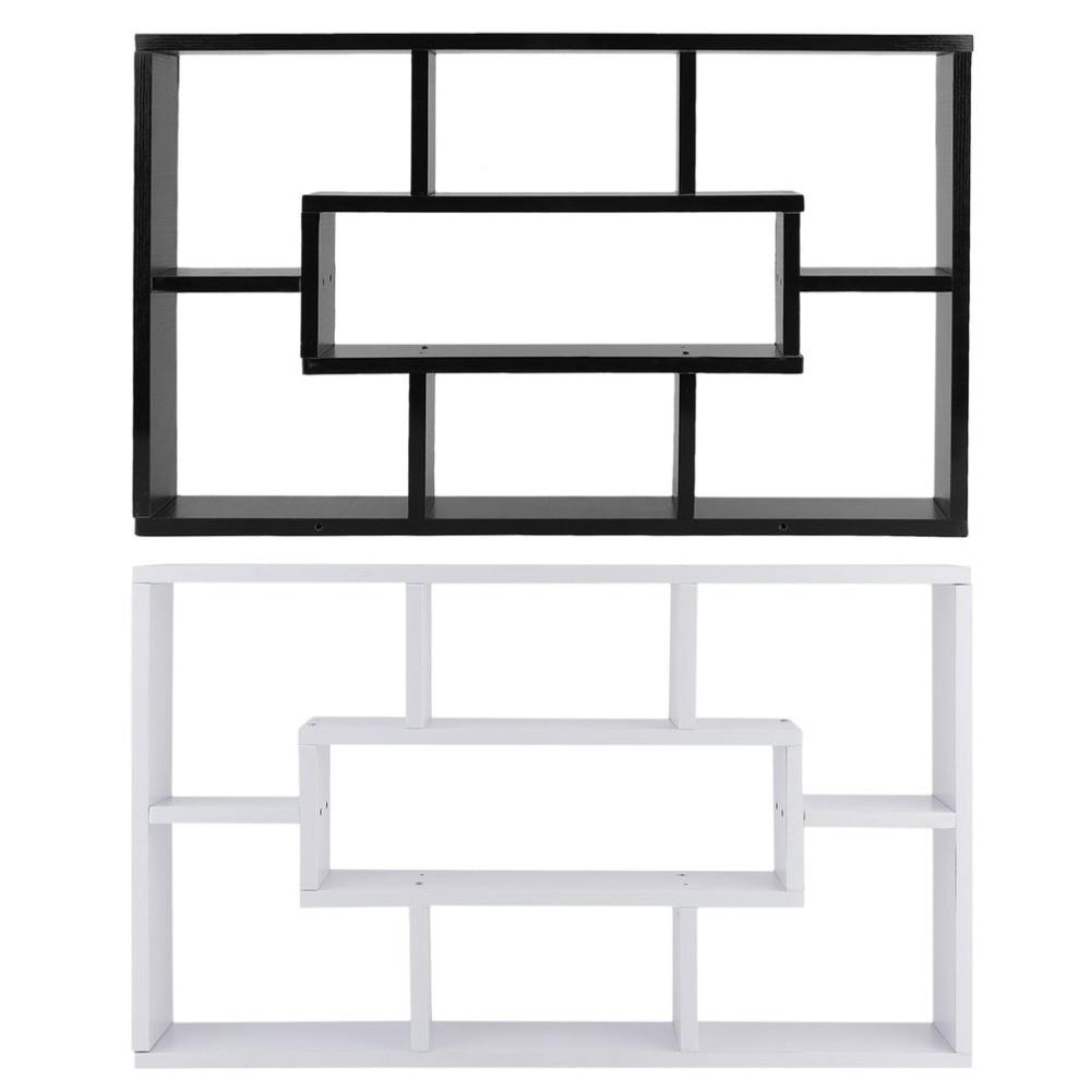 Chipboard Wall Storage Cabinet Multifunctional Book Rack Modern Craft Display Shelf Household 8 Compartment Sundries Rack все цены