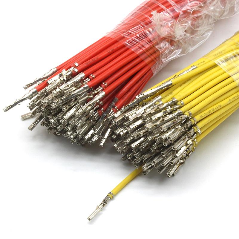 100 шт. Micro-Fit 3,0 мм Шаг 5557/5559 гнездовой контакт обжим с кабелями для мужского корпуса многоцветный 1007 22AWG 30 см один конец