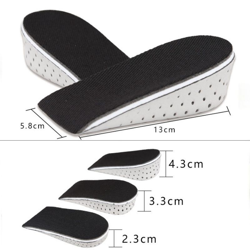 Unisex Insole Heel Lift Insert Shoe Pad Cushion Elevator Taller Height Incre DI