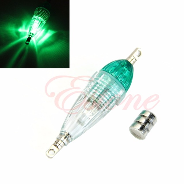 LED Flashing Mini Deep Drop Underwater Fishing Squid Fish Lure Light Green Lamp