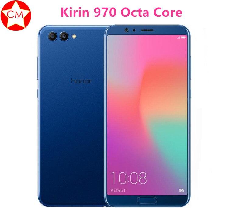"Оригинальный huawei Honor смартфон V10 Kirin 970 Octa Core ОТА отпечаток пальца NFC 5,99 ""1080×2160 P EMUI Android 8,0 телефон"