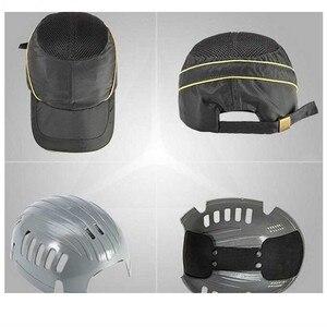 Image 3 - Mevsimlik nefes çalışma emniyet kaskı yumru şapka moda rahat güvenlik Anti darbe hafif kask güneş koruyucu koruyucu şapka