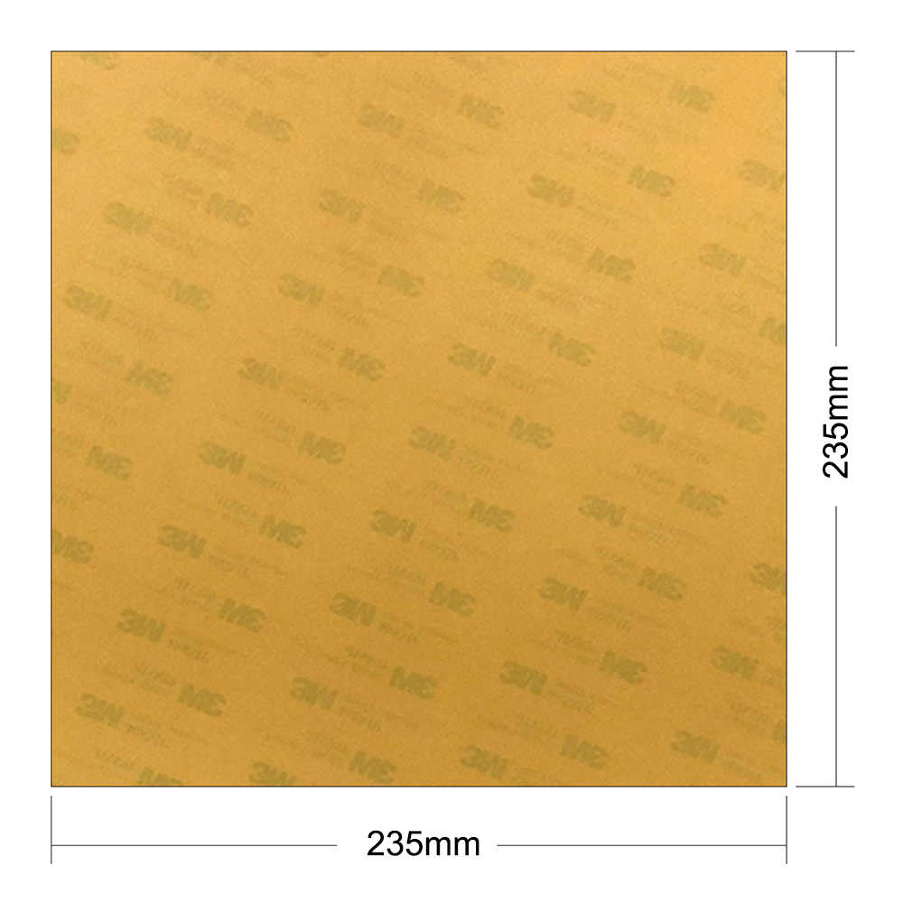 ENERGETIC Polyetherimide แผ่น PEI 235x235x0.2/0.125 มม.3D เครื่องพิมพ์สร้างแพลตฟอร์ม Pre-applied สำหรับ Ender-3, TEVO แฟลชเตียง
