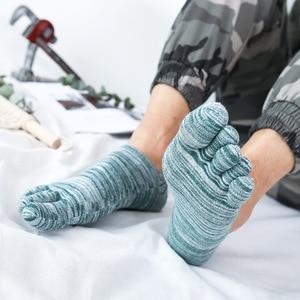 Image 5 - Veridical 5 Paren/partij Katoenen Sokken Met Tenen Kleurrijke Lente Zomer No Show Enkel Koele Sokken Voor Man Vintage Vijf Vinger sokken