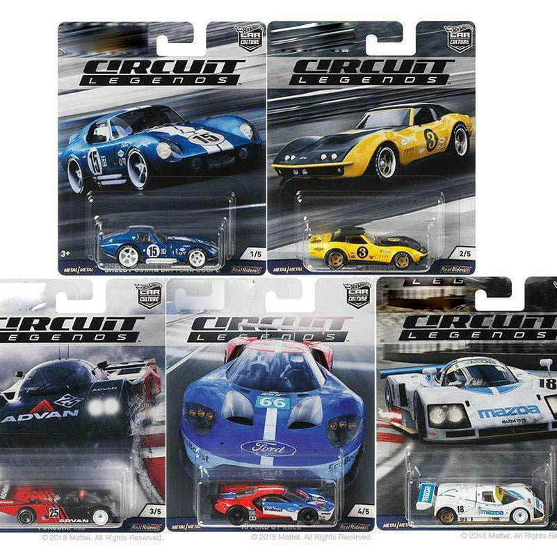 Hot Wheels Car 1:64 Car Culture Circuit Legends Shelby Cobra MAZDA Collector Edition Metal Diecast Model Car Kids Toys Gift