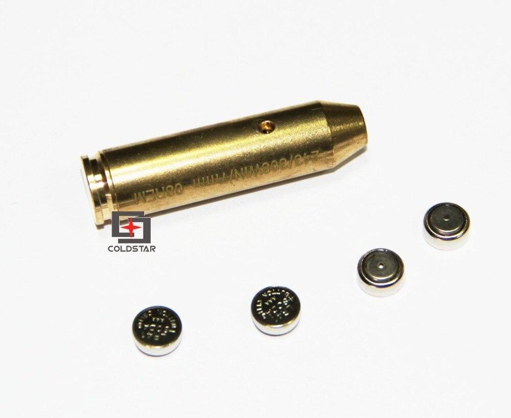 Copper Boresighter 308WIN 243 7mm-08REM CAL Cartridge Laser Bore Sighter/ .243 .308 Laser Bore Sight for Handgun Pistol Rifle