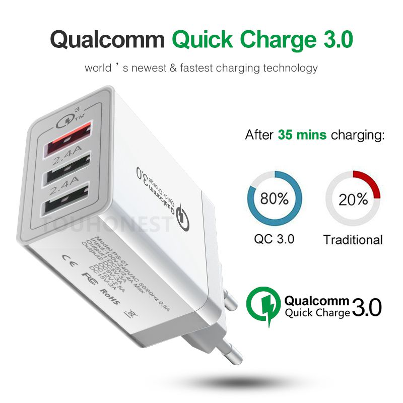 Universal 6x USB Socket Port Output Power Adapter 800-2100mA for iPad//Tab Pro//Z2