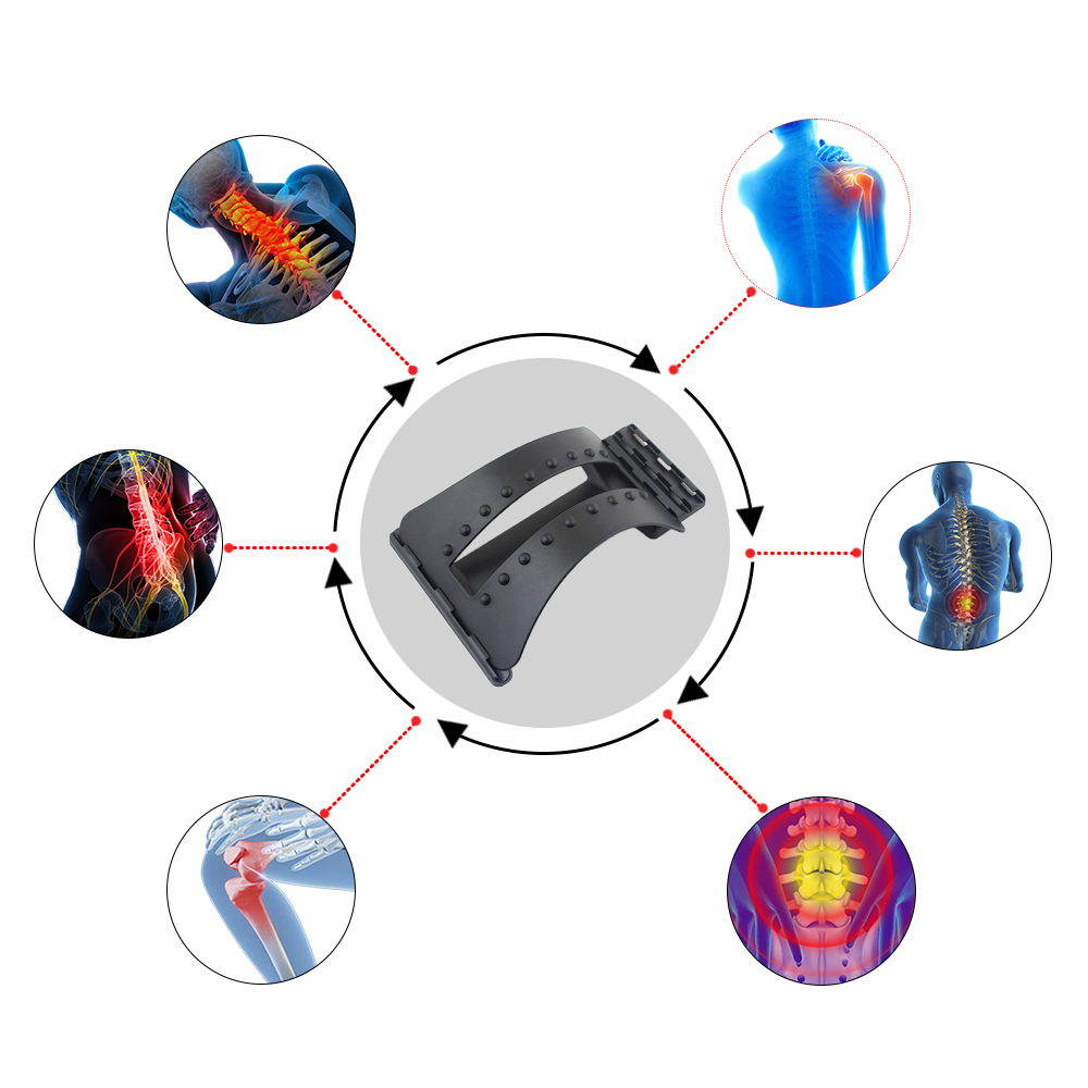 Back Massager Stretcher Fitness Massage Equipment Stretch Relax Stretcher Lumbar Support Spine Pain Relief Chiropractic Dropship 5