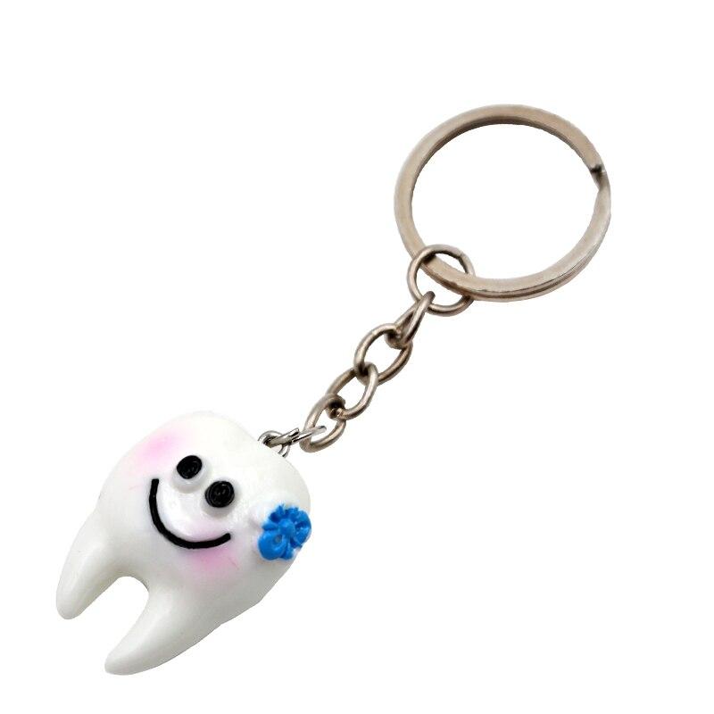 Image 4 - 10 шт. зубные Зубы Форма модель моделирование зуб брелок мода мультфильм прекрасный подарок для девочек кулон зубы брелок-in Отбеливание зубов from Красота и здоровье on AliExpress