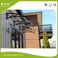 YP100240 100x240cm 39x94 5in Depth 100cm Width 240cm Door Window Polycarbonate Awning Aluminum Bracket Polycarbonate Awning
