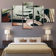 5 Unidades Lienzos For Living Room Fotos Impresiones de ALTA DEFINICIÓN Sintonizador de La Guitarra Eléctrica del Instrumento Musical Poster Home Decor Wall Art