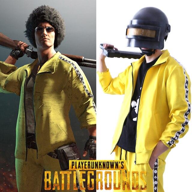 US $66 99 |PUBG Playerunknown của Battlegrounds Cosplay Costume Coat Vàng  Thể Thao Phù Hợp Với Áo Khoác Jacket + quần trong PUBG Playerunknown của