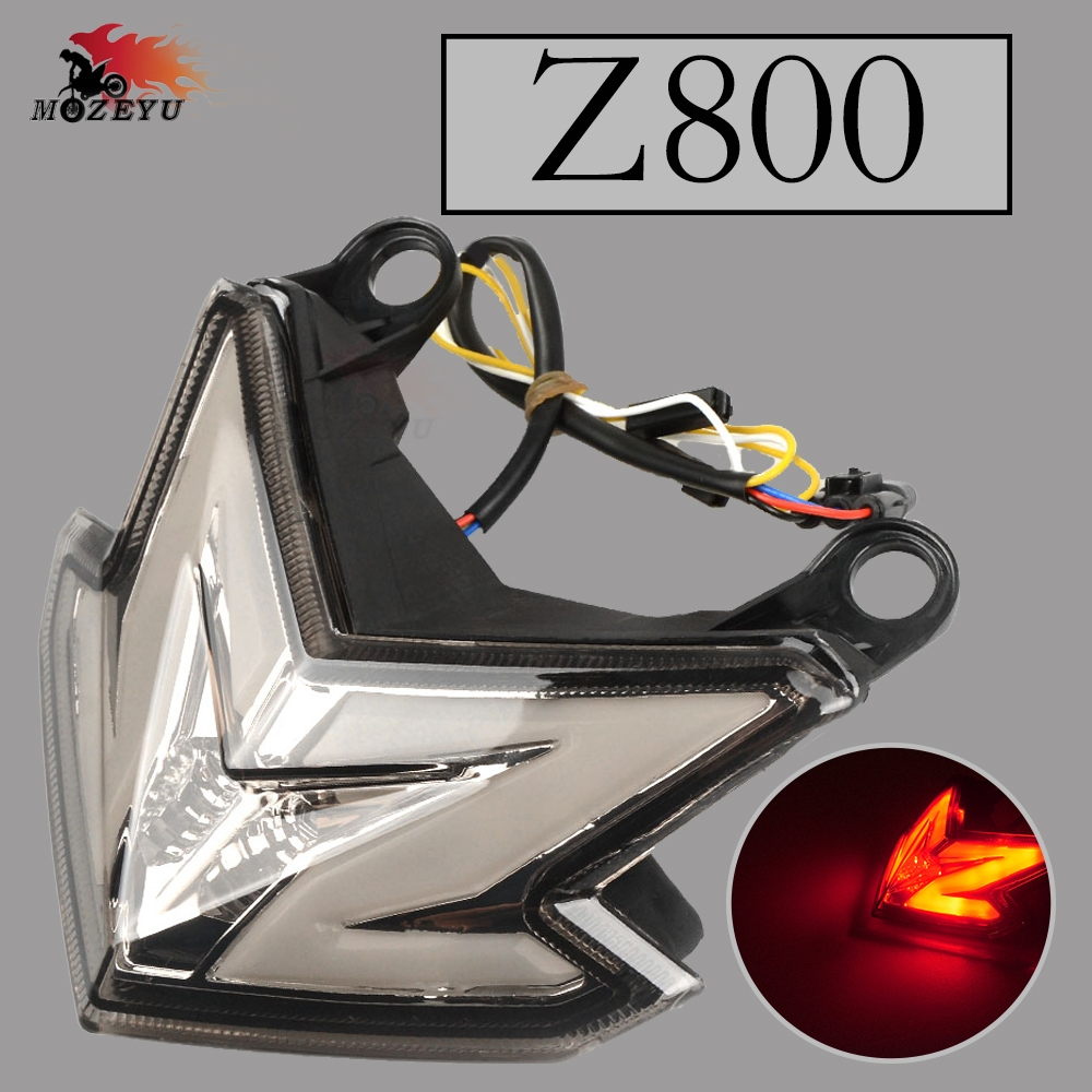 for kawasaki Motorcycle LED Tail Light Tail Lamp Integrated Turn Signals Blinker Signals Indicators FOR KAWASAKI Z800 Z 800 moto in Covers Ornamental Mouldings from Automobiles Motorcycles