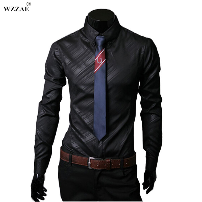 Wzzae 2017 new high quality mens designer stripes dress Designer clothes discounted