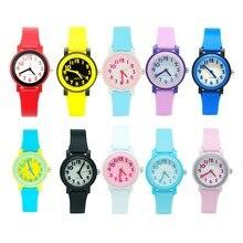 Простая детская Часы дети силиконовые Водонепроницаемый наручные часы бренда дамы конфеты кварцевые модные Повседневное Reloj femininos Montre