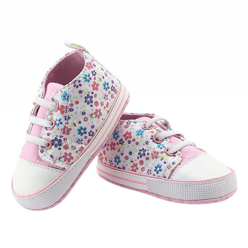 Hot Winter Sweet Baby Printing Type Soft Soled Infant Baby Girl Crib First Walkers Shoes