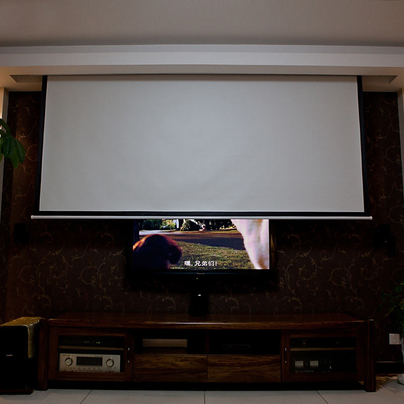Online buy wholesale screen grey from china screen grey for 100 inch motorized projector screen