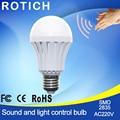 Motion Sensor Lamp 3W 5W 7W 9W12W E27 220V LED Bulb Lights Auto Smart Sound & Light Control Led Bulbs Home Lighting Gate Stairs