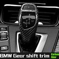 Automático da velocidade do deslocamento de engrenagem knob cabeça de fibra de carbono capa para todas as séries BMW e81 e90 f10 f20 f30 f32 f22 x3 x4 x5 x6 shifter guarnição