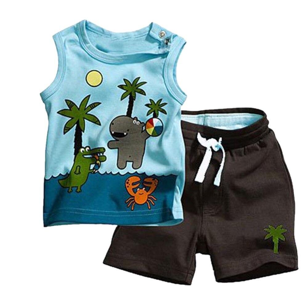 156cfe51d7aac7 ᐂCoco de bebê criança sem mangas verão t-shirt roupas calças roupa ...