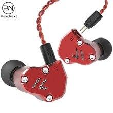 RevoNext QT2S In Ear Monitor Auricolari Triple Driver In Ear Headphone Wired Auricolari Con Isolamento Acustico Auricolare di Qualità HIFI 2DD + 1BA