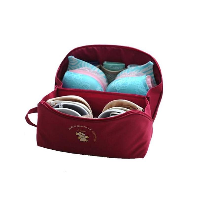 Woman's Underwear Bra Bag Large Capacity Travel Cartoon Underwear Storage Bag Partition Dustproof Bra Package Fashion Organizer