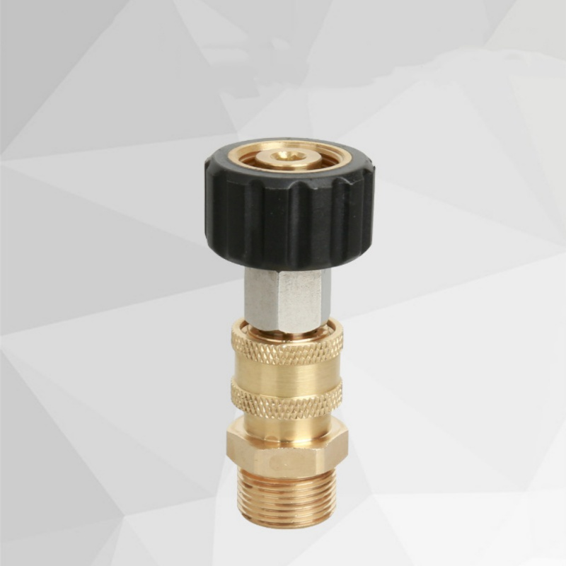 1pc High Pressure Cleaner Adapter High Pressure Car Wash 1/4 Live Plug-In Full Copper Modified Connector Car Cleaning Equipment(China)